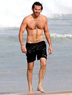 Shirtless Friday! Bradley Cooper! Soaking wet!