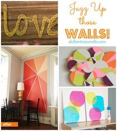 Dollar Store Crafts » Blog Archive » 10 DIY Wall Art Ideas