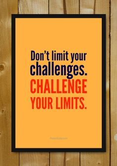 Buy Framed Posters Online Shopping India | Challenge Your Limits Glass Framed Poster | PosterGully