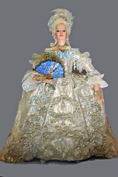 Marie Antoinette 1755-1793 (court dress) by Lady Finavon.  Marie Antoinette was born November 2nd, 1755 in Vienna. She was one of sixteen children of Maria Theresa, archduchess of Austria and Queen of Hungary and Bohemia, and the Holy Roman Emperor, Francis I. In 1770, at 14, she traveled to the French palace of Versailles to be married. Four years later she became Queen of France when her husband was crowned Louis XVI.