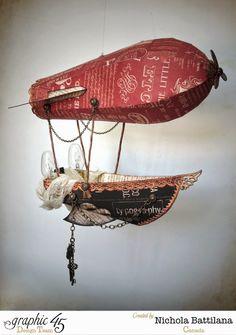 Typography Sky Pirate Zeppelin - Nichola Battilana