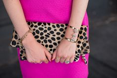 Still totally obsessed with my leopard clutch...