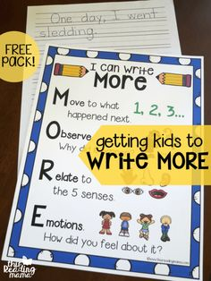 Getting Kids to Write More - FREE Pack - This Reading Mama