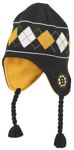 1f87c0791 ... Adidas NHL Authentic Pro Jersey. Boston Bruins Black Reebok NHL Argyle  Knit Hat