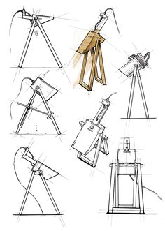 Farmhouse Furniture Makeover Thrift Stores - DIY Furniture Ideas For Teens - Refinishing Furniture Distressed DIY Interior Design Sketches, Industrial Design Sketch, Sketch Design, Interior Design Tips, Victorian Furniture, Unique Furniture, Furniture Design, Furniture Sketches, Upcycled Furniture