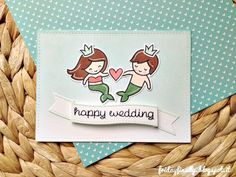 mermaids wedding LFcard