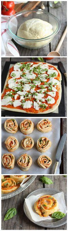Margherita Pizza Wheels