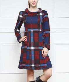 Look what I found on #zulily! Burgundy Cowl Neck Dress #zulilyfinds
