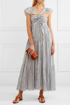 Ulla Johnson | Ariane striped cotton-gauze maxi dress | NET-A-PORTER.COM