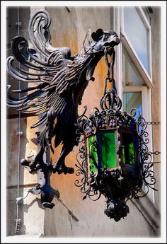 - All For Lamp İdeas Light In, Lamp Light, Muebles Estilo Art Nouveau, Motifs Art Nouveau, Lantern Lamp, Iron Work, Gothic House, Antique Lamps, Street Lamp