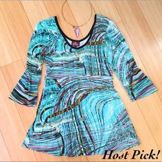 SALAAM soft boutique shirt, sz M Boutique shirt - I loved this so much but I just cannot pull off any shade of green. Butter soft material, great edgy style.  Good over jeans, black pants, pencil skirt - really nice!  Great condition. Salaam Tops Blouses