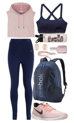 """Work out outfit #6: Gym session"" by florcampodonico ❤ liked on Polyvore featuring Dye Ties, NIKE, adidas, Under Armour, Reebok and Kenneth Jay Lane"