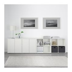 EKET Storage combination with feet IKEA A low combination provides convenient storage space under a window, stairs, etc.