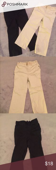 Set of two girl chinos A wardrobe must have. Two girl chinos from children's place. Both have elastic waist band and cute bow detail in the front. Both are in excellent condition my daughter hardly wore them. Children's Place Bottoms Casual