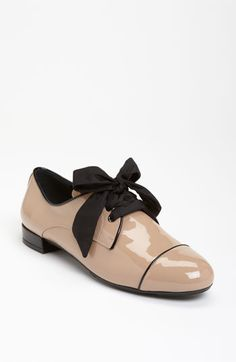 This shoe makes me melt. The Prada Bicolor Oxford at Nordstrom. A mere $450 -- practically a gift with purchase!