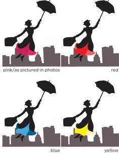 Mary Poppins Party Invitations, Birthday, Baby Shower, Tea Party, 20 Invitations