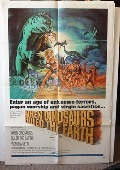 Original Movie Poster When Dinosaurs Ruled by MoviePostersAndMore