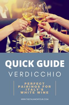 Before you pick your next bottle of Italian White Wine, be sure to get the scoop on Verdicchio. This Quick Guide to Verdicchio will help you learn about this Italian White Wine, Italian Recipes, Italian Foods, Wine Guide, Healthy Dishes, Cooking Classes, Foodie Travel, Wines, Alcoholic Drinks