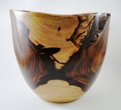 Wood Bowl No130421  Cocobolo Natural Edge by conreysa on Etsy, $125.00