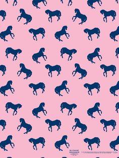 Prancing horse pattern