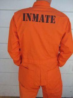 Custom Printed Jail Inmate Orange Jumpsuit Costume | eBay