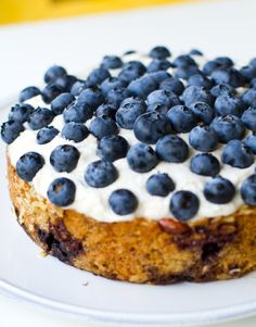 Frosted Blueberry Cake. Vegan slice of spring. - Healthy. Happy. Life. #vegan #blueberries