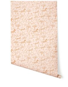 Safari in Taupe -- from Rifle Paper Co's first wallpaper collection in partnership with Hygge & West Blush Wallpaper, Print Wallpaper, Fabric Wallpaper, Pattern Wallpaper, Nursery Wallpaper, Wallpaper Ideas, Hygge And West, Rifle Paper Company, Nursery Inspiration