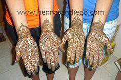 Henna on Bridesmaid's hands.