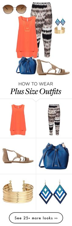 """plus size end of summer blues"" by kristie-payne on Polyvore featuring moda, Mat, Oliver Peoples, Manon Baptiste, Dune, Jennifer Zeuner y H&M"