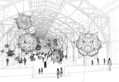 Cloud Cities Inspired by Soap Bubbles and Spider Webs - My Modern Met