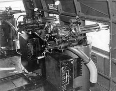 "AC-47 Dakota Gunship mini guns. The plane was nicknamed ""Spooky"" and ""Puff The Magic Dragon"""
