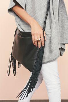 Leather Fringe Bag   Banana Republic