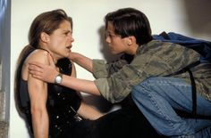 "Linda Hamilton, Edward Furlong in ""Terminator 2: Judgement Day"" (James Cameron, 1991)"