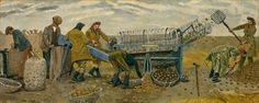Evelyn Mary Dunbar: Potato Sorting, Berwick. BBC - Your Paintings.