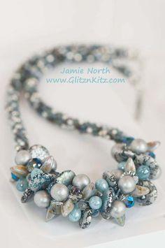 Blue Moon Necklace - Glitz n Kitz