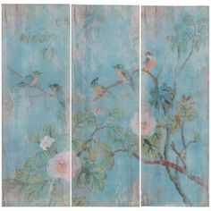 Perching Birds Wall Decor (Set of 3)