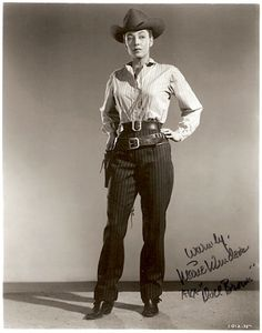 Happened upon this somewhere the other day — Marie Windsor in Republic's Hellfire I love that film — one of my favorite Westerns — and this still is too cool to keep to myself. Actor Picture, Picture Movie, Cow Girl, Raquel Welch, Gaucho, Marie Windsor, Winchester, Westerns, Old Hollywood Glamour
