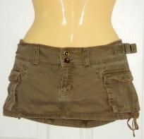 Juniors Hollister Brown Cargo Mini Skirt - 9 - *FREE SHIPPING* $11.00