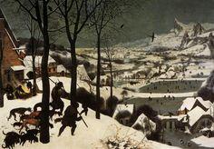 Pieter Bruegel il vecchio, Cacciatori nella neve (1565) Kunsthistorisches Museum, Vienna