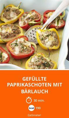 Gefüllte Paprikaschoten mit Bärlauch - smarter - Kalorien: 190 Kcal - Zeit: 30 Min. | eatsmarter.de