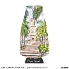 Eliza James-McBean Clock Tower VI Bottle Cooler  The Eliza James-McBean Clock Tower VI Bottle Cooler with Eliza James McBean Clock Tower makes wonderful cooler and coversation piece. The Clock Tower is located in Frederiksted, St. Croix US Virgin Islands and is a major landmark in the town. Many events including weddings take place at this beautiful place.