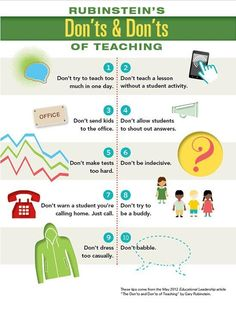 Don'ts and Don'ts of Teaching by Gary Rubinstein.