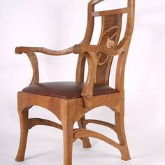 Dining Chairs And Arm Chairs With Marquetry Back Panels by Lindsey And John Louchheim