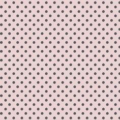 pink w/ gray polka dots