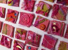 fabric inchies...adorable | Inchies | Pinterest