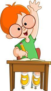 Happy schoolboy raising hand in class school cartoon, cartoon kids, student cartoon, school School Cartoon, Cartoon Kids, Student Cartoon, Art For Kids, Crafts For Kids, School Clipart, Clip Art, School Boy, Classroom Decor