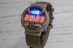 Nixie Tube Watch, Metro 2033, Watch Case, Vintage Watches, Digital Watch, Stainless Steel Case, Cool Watches, Leather Case, Cool Stuff