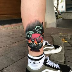 David SZ - Psychedelisches surrealistisches Tattoo - Old school and Traditional tattoo - Tattoo Leg Tattoo Men, Leg Tattoos, Body Art Tattoos, Sleeve Tattoos, Tatoos, Dragon Tattoos, Tattoo Ink, Boys With Tattoos, Couple Tattoos
