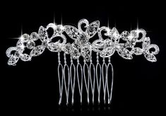 Wedding Prom Bridal Crystal Pearls Diamante Hairpin Rhinestone Hair Clip Comb for sale online Hair Jewelry, Wedding Jewelry, Women Jewelry, Engagement Jewelry, Wedding Store, Party Wedding, Wedding Hats, Barrettes, Bridal Hair Pins