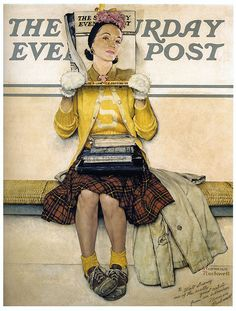 (1941)  Double Take - Norman Rockwell   Saturday Evening Post